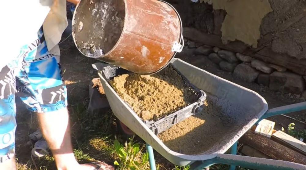 Заготовка песка