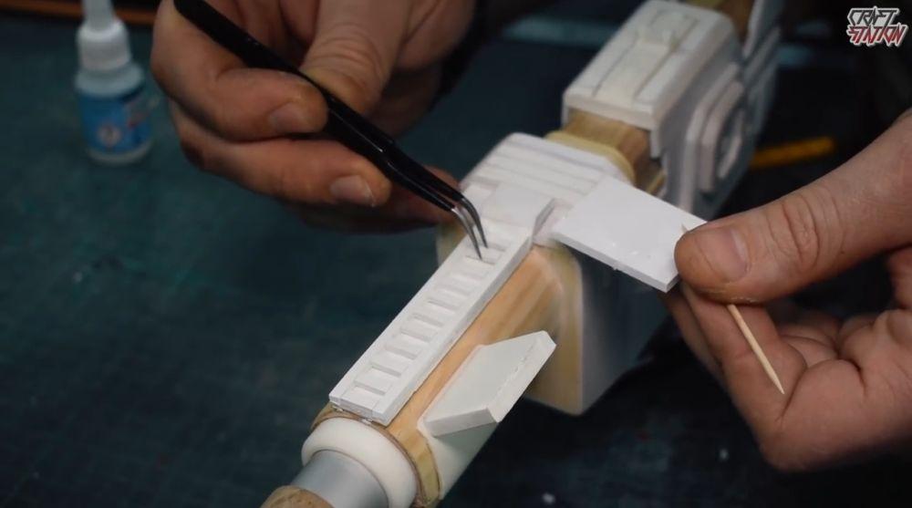 Процесс изготовления винтовки мондалорца шаг 37
