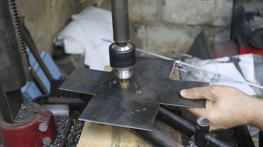 Процесс изготовления мангала гриля шаг 38