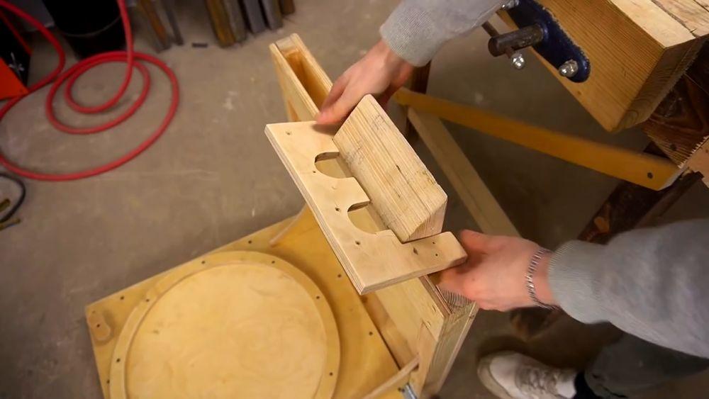 Процесс изготовления ручной бетономешалки шаг 39
