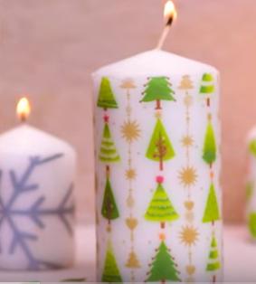 Процесс изготовления новогоднего декора шаг 4