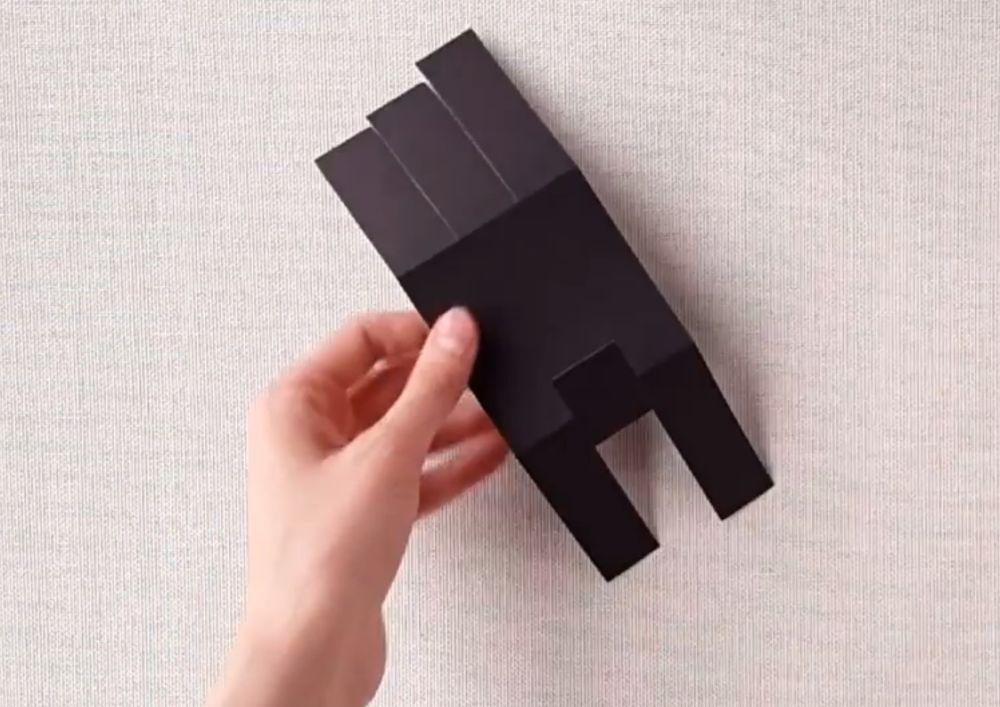 Процесс изготовления беззубика из бумаги шаг 3