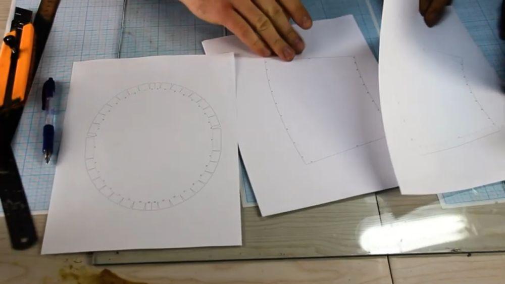 Процесс изготовления шлема рыцаря-крестоносца шаг 3