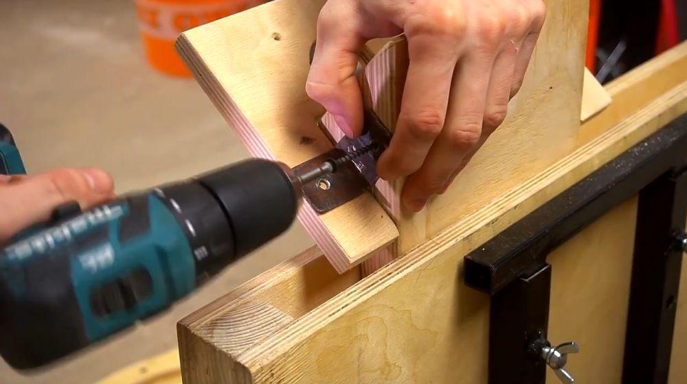 Процесс изготовления ручной бетономешалки шаг 40