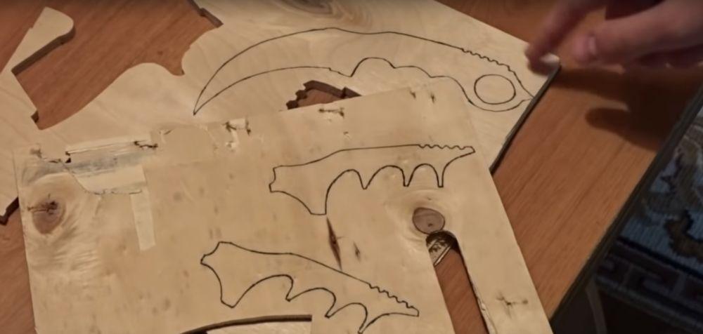 Процесс изготовления ножа керамбита шаг 4