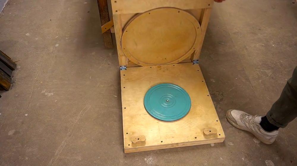 Процесс изготовления ручной бетономешалки шаг 41