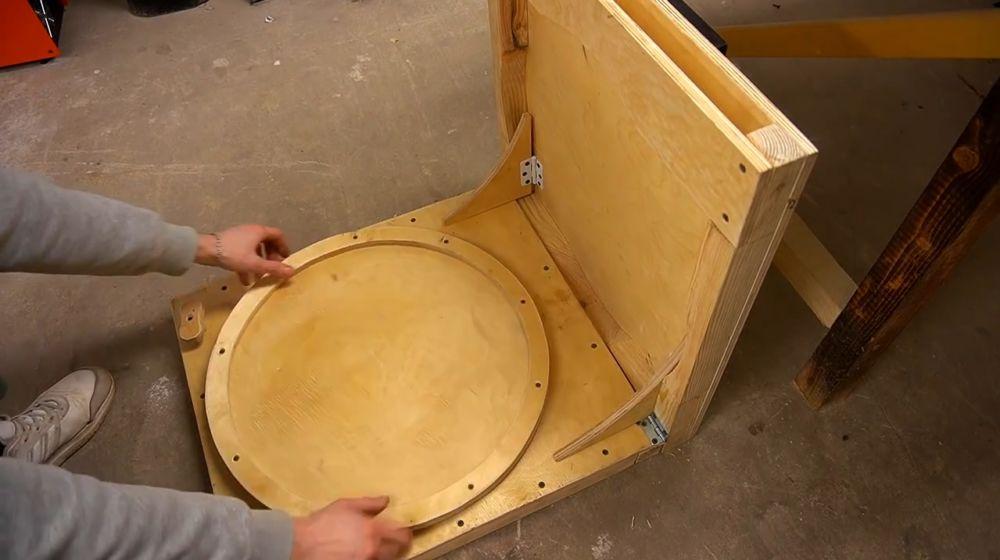 Процесс изготовления ручной бетономешалки шаг 42