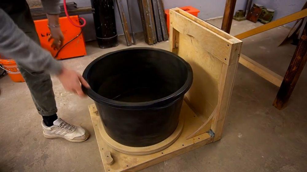 Процесс изготовления ручной бетономешалки шаг 43