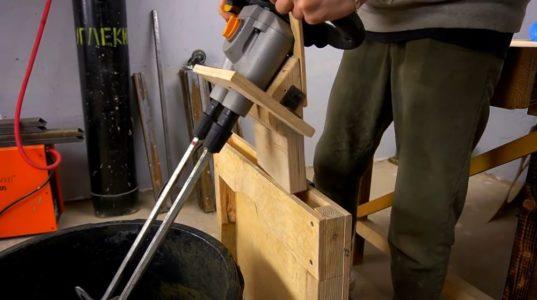 Процесс изготовления ручной бетономешалки шаг 44