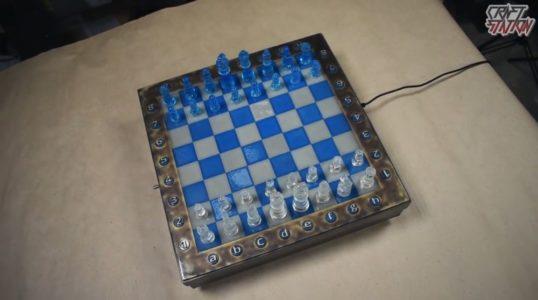 Процесс изготовления шахмат из эпоксидной смолы шаг 46