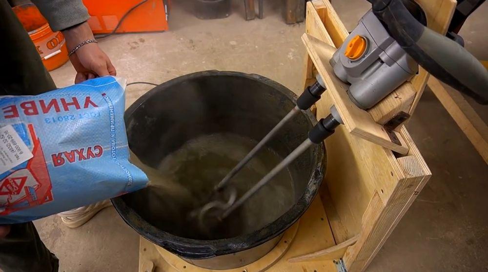 Процесс изготовления ручной бетономешалки шаг 46
