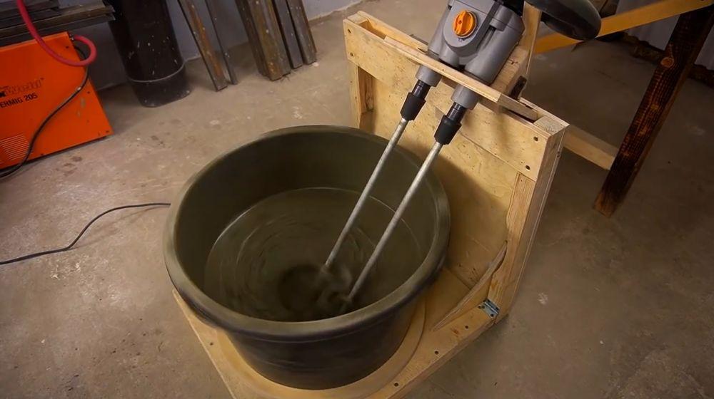Процесс изготовления ручной бетономешалки шаг 47
