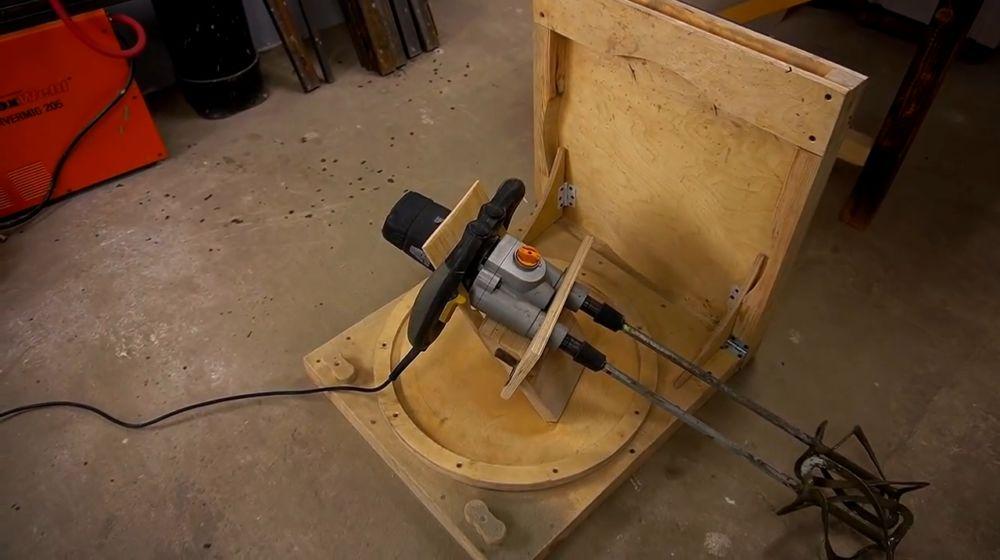 Процесс изготовления ручной бетономешалки шаг 48