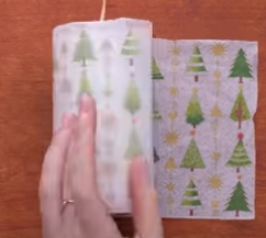 Процесс изготовления новогоднего декора шаг 5