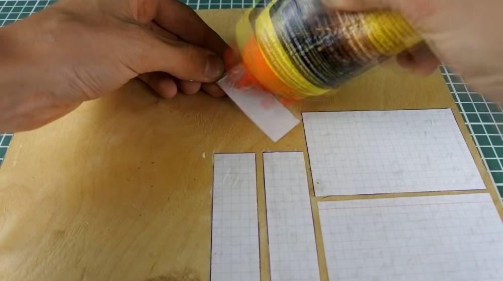 подготовка шаблонов корпуса из бумаги
