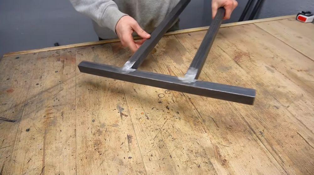 Процесс изготовления ручной бетономешалки шаг 5