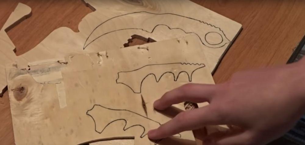 Процесс изготовления ножа керамбита шаг 5