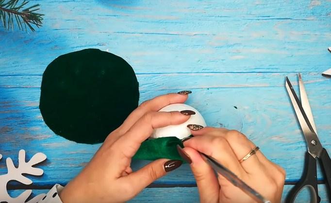 Процесс изготовления елочных шаров шаг 5