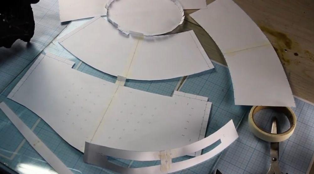 Процесс изготовления шлема рыцаря-крестоносца шаг 5