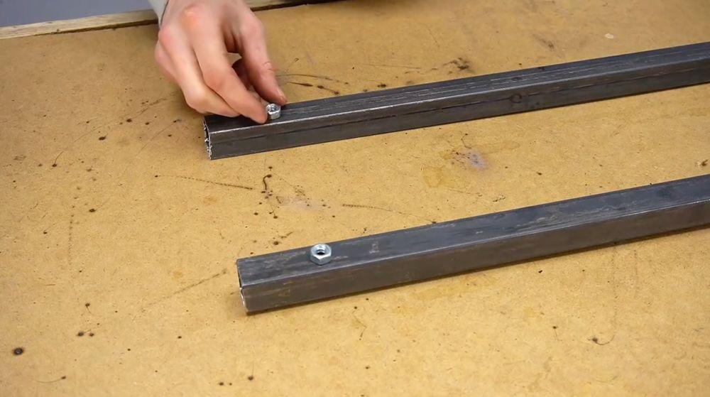 Процесс изготовления ручной бетономешалки шаг 6