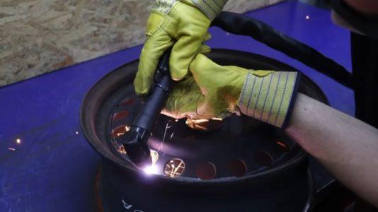 Процесс изготовления мангала гриля шаг 6