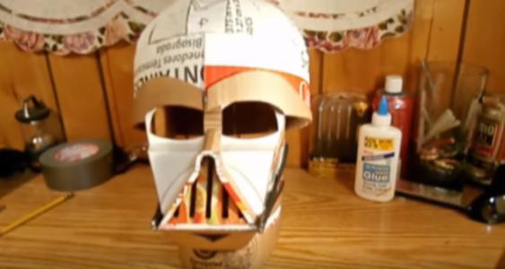 Процесс изготовления шлема дарта вейдера шаг 60