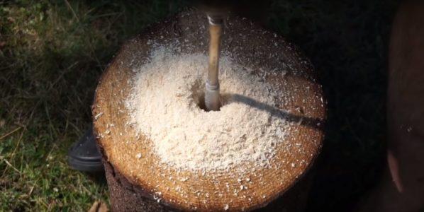 Процесс изготовления финской свечи шаг 6