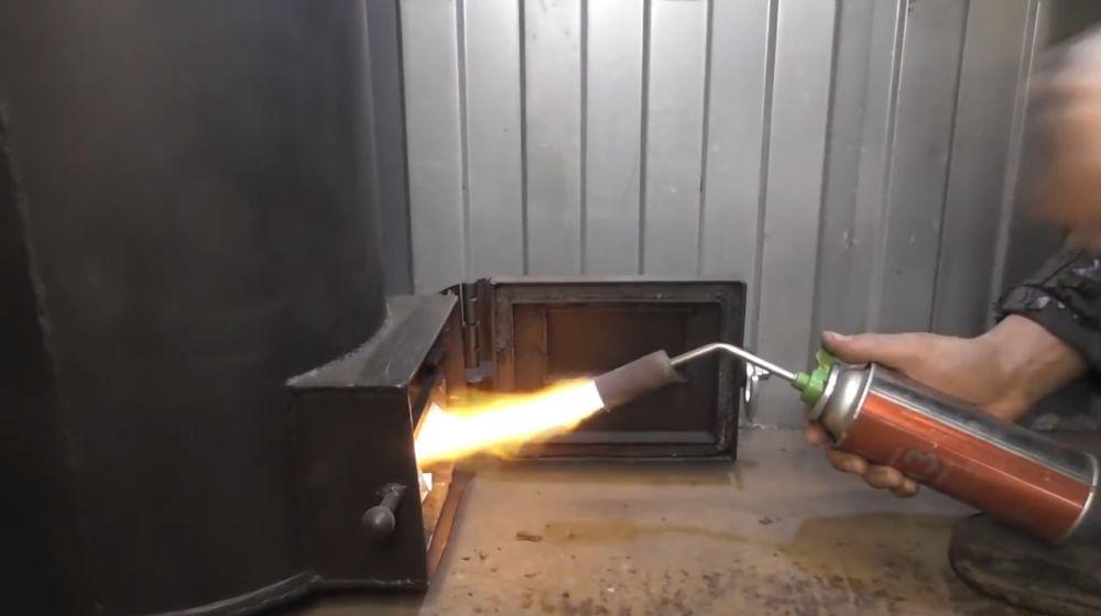 Буржуйка длительного горения в гараж своими руками