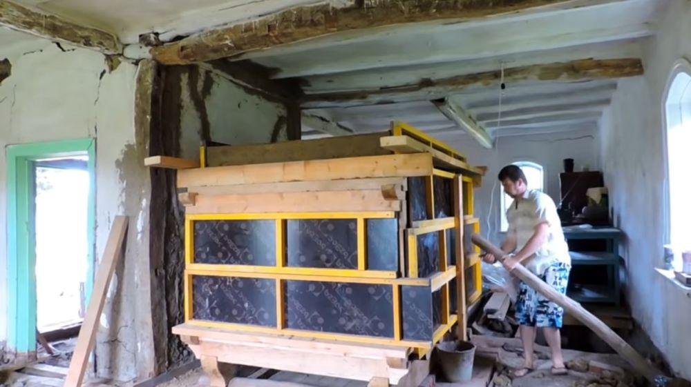 Демонтаж стенок опалубки
