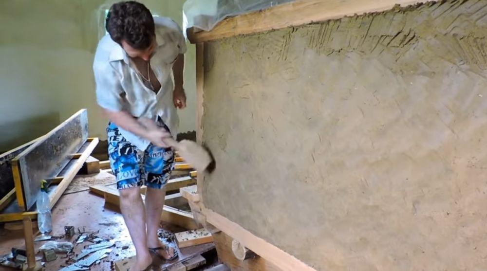 Уплотнение стен печи