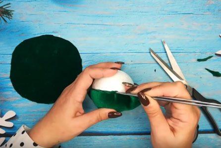 Процесс изготовления елочных шаров шаг 6