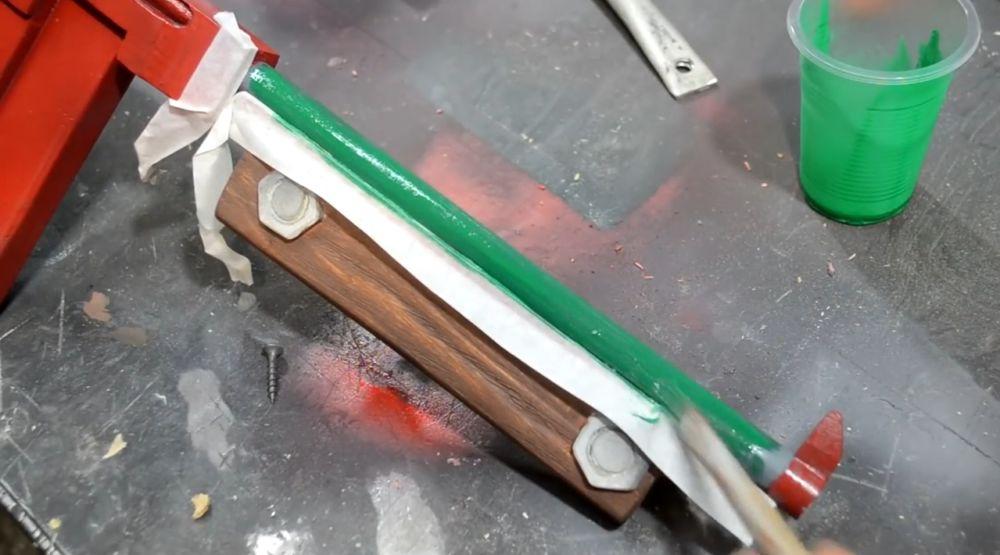 Трубки приклада красим в зеленый