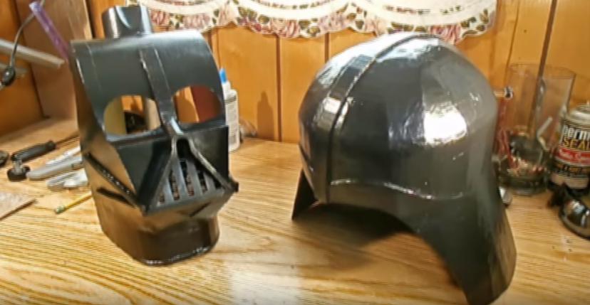 Процесс изготовления шлема дарта вейдера шаг 74