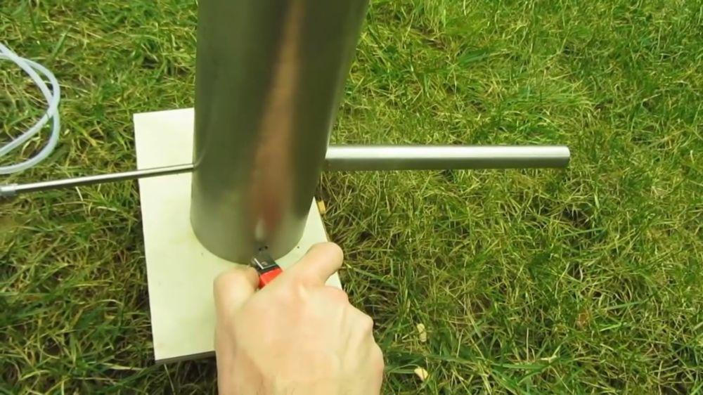Процесс изготовления дымогенератора для холодного копчения шаг 7