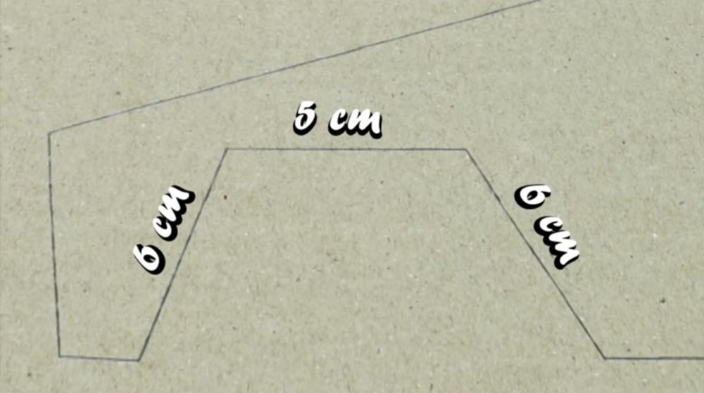 Разметка корпуса модели
