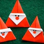Дед Мороз, оригами из бумаги для детей