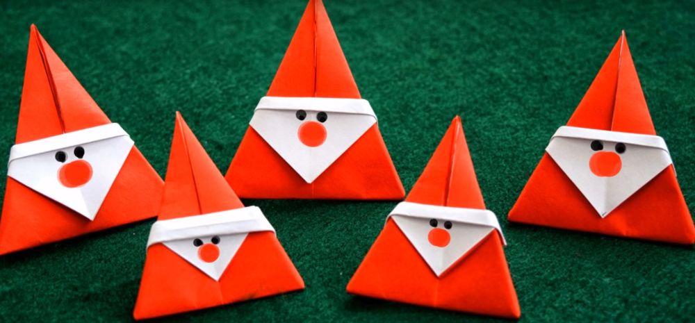 Процесс изготовления деда мороза оригами вариант 3 шаг 8