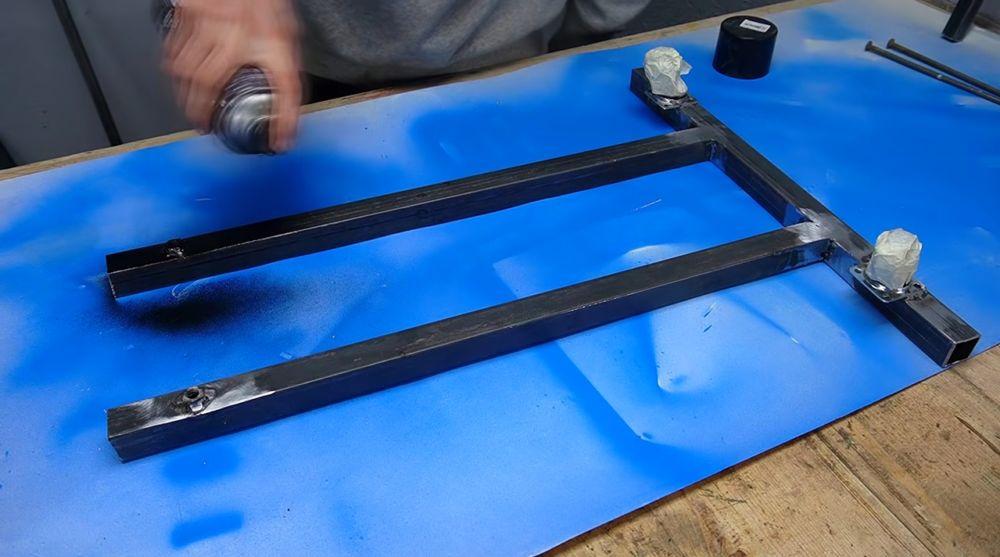 Процесс изготовления ручной бетономешалки шаг 8