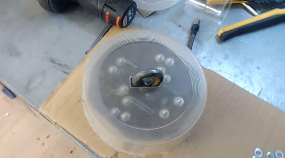 Монтаж емкости для заливки