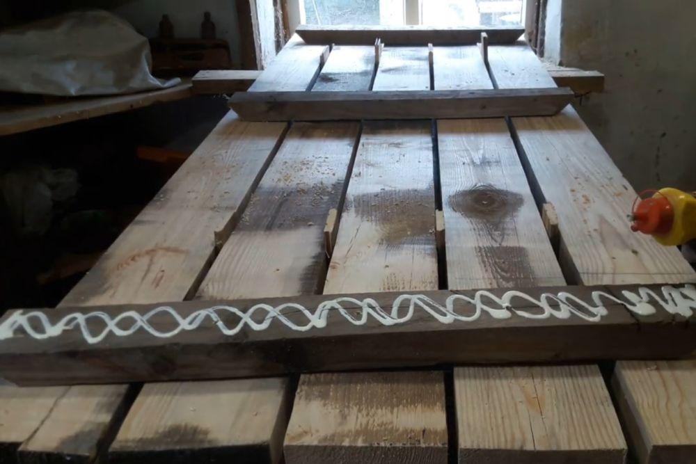 Процесс изготовления деревянного стола шаг 8
