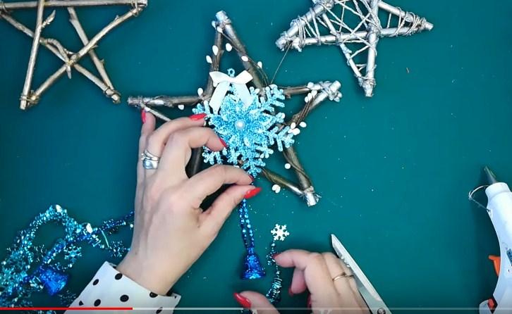 Процесс изготовления новогодних звезд шаг 7