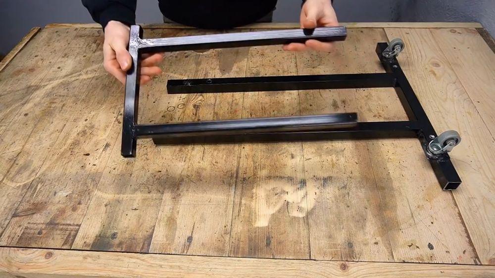 Процесс изготовления ручной бетономешалки шаг 9