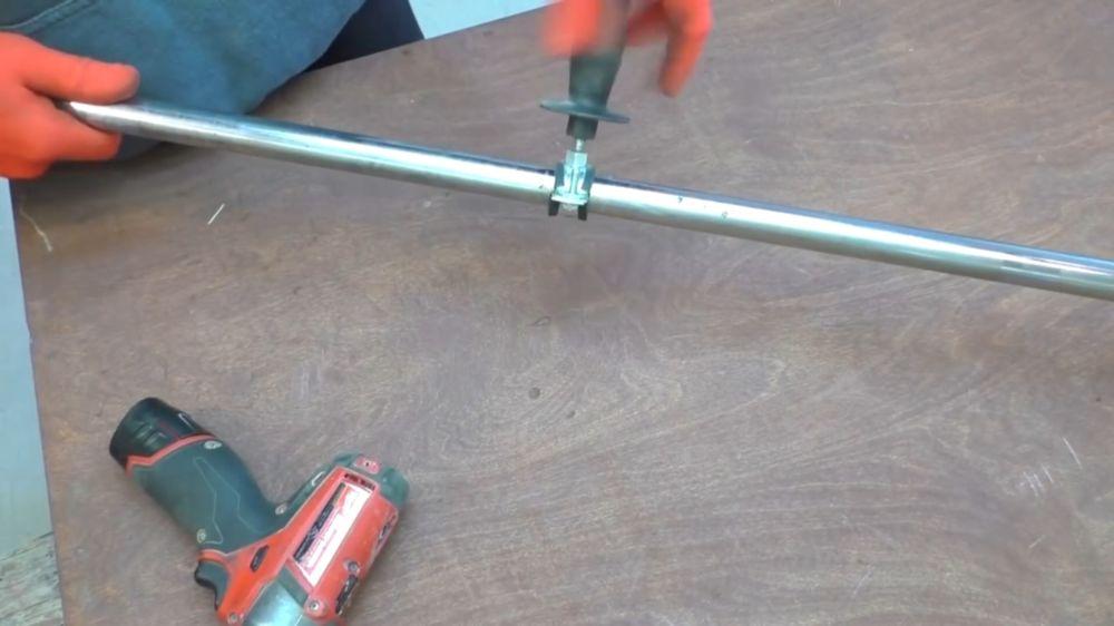 Процесс изготовления триммера из болгарки шаг 25