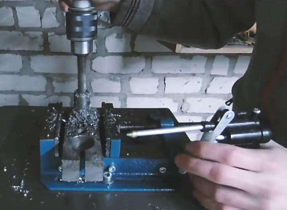Процесс изготовления ленточной шлифовальной машины шаг 5