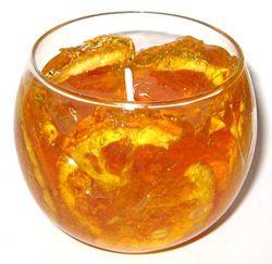 Гелевая свеча - Апельсиновый десерт