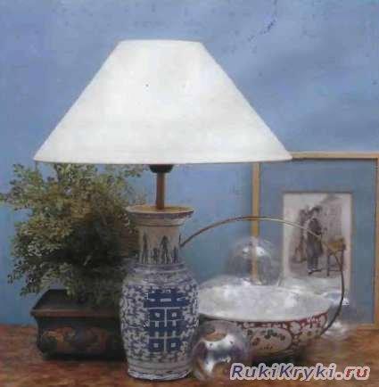 Лампа из вазы