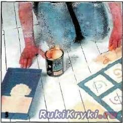 Нарисованный коврик