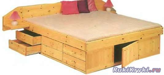 Кровать с ящиками своими руками