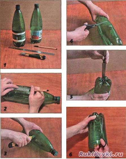 Самодельный светильник из пластиковых бутылок