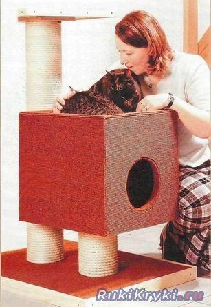 Кошкин дом своими руками